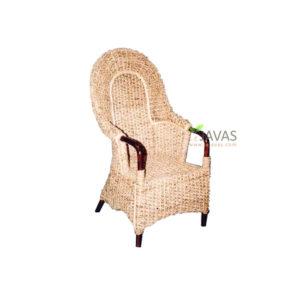 Teak Indoor King Chair Of Water Hyacinth MAC 012