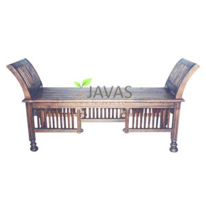 Teak Indoor King Stool 2 Seat