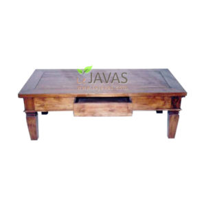 Teak Indoor Meja Tamu 2 Drawer MCT 007