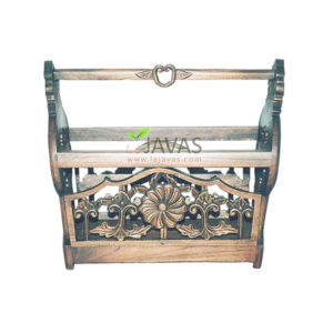 Teak Indoor Rose Magazine Rack