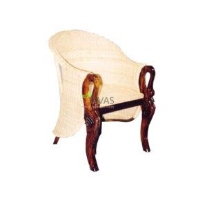 Teak Indoor Swan Scrub Rattan Chair MAC 015 R