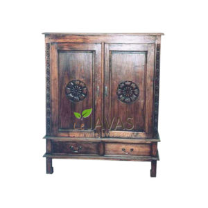 Teak Indoor TV Small Armoire MCB 006