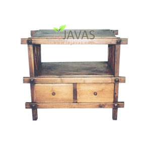 Teak Indoor TV Table 2 Drawer MOT 008