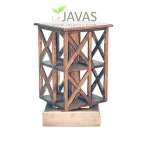 Teak Indoor Turning Magazine Rack MMC 002