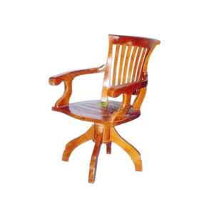 Teak Indoor Turning Office Chair MAC 011