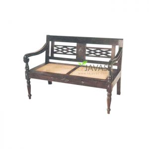 Teak Indoor Anglo Indian Colonial Bench MBN 009