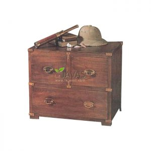 Teak Indoor Campaign Chest