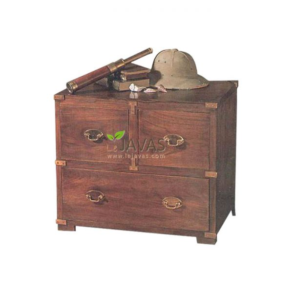 Teak Indoor Campaign Chest MBS 008