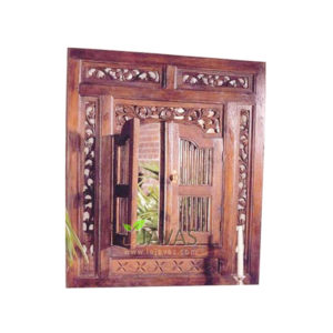 Teak Indoor Colonial Mirror MMR 003
