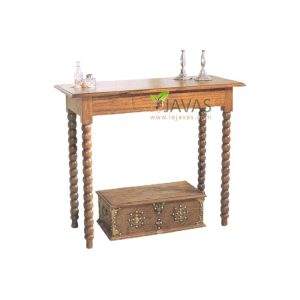 Teak Indoor Planters Console Table
