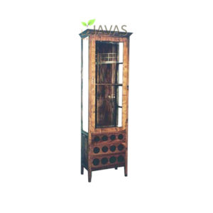 Teak Indoor Wine Bar With Glass MCB 007