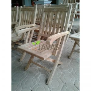 Teak Garden Amaluna Folding Arm Chair